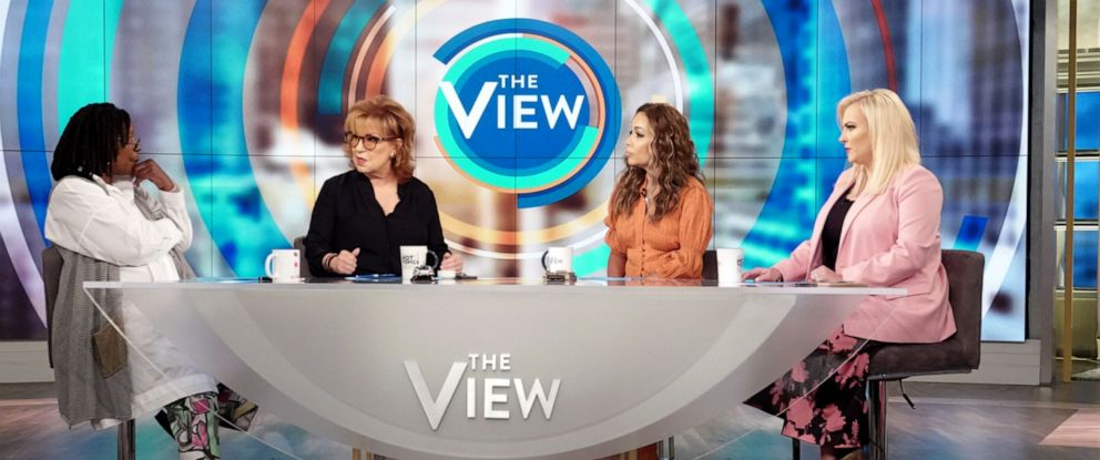 "PHOTO: ""The View"" co-hosts Whoopi Goldberg, Joy Behar, Sunny Hostin, and Meghan McCain weigh in after four freshman Democrat congresswomen speak out, July 16, 2019."