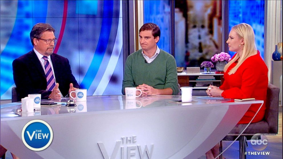 PHOTO: Mark Salter and Teddy Kunhardt appear onThe View, with co-host Meghan McCain May 21, 2018.
