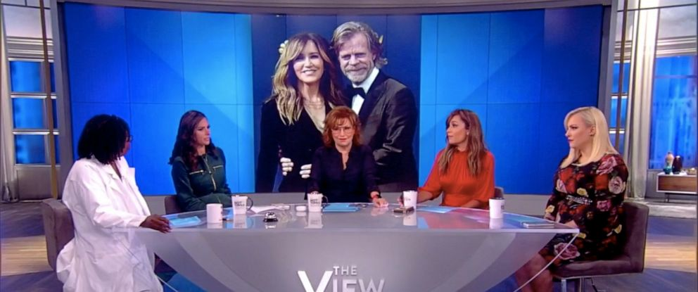 """PHOTO: """"The View"""" co-hosts Whoopi Goldberg, Abby Huntsman, Joy Behar, Sunny Hostin, and Meghan McCain discuss Felicity Huffmans letter in defense of her alleged actions in the college cheating scandal, Sept. 9, 2019."""