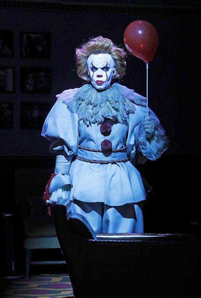 PHOTO: The View co-host Sunny Hostin as Pennywise from Stephen Kings novel It on Thursday, Oct. 31, 2019.