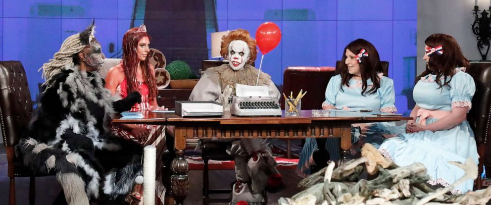 "PHOTO: ""The View"" co-hosts dress up as characters from Stephen King novels for Halloween on Thursday, Ot. 31, 2019."