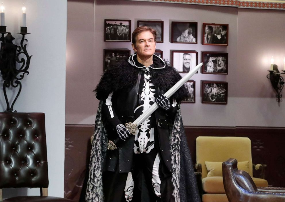 PHOTO: Dr. Mehmet Oz on The View as Game of Bones styled after the Game of Thrones series on Thursday, Oct. 31, 2019.