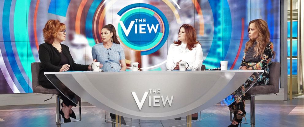 "PHOTO: Joy Behar, Abby Huntaman, Ana Navarro, and Sunny Hostin discuss presidential candidates policy versus personality on ""The View"" Monday, Mar. 11, 2019."