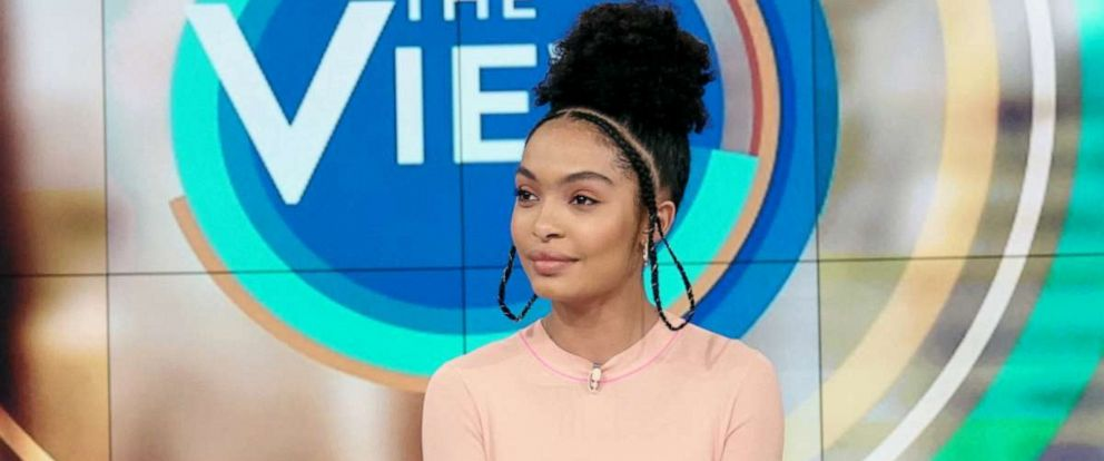 "PHOTO: Actress of ""The Sun is Also a Star"" Yara Shahidi sits with ""The View,"" May 15, 2019."