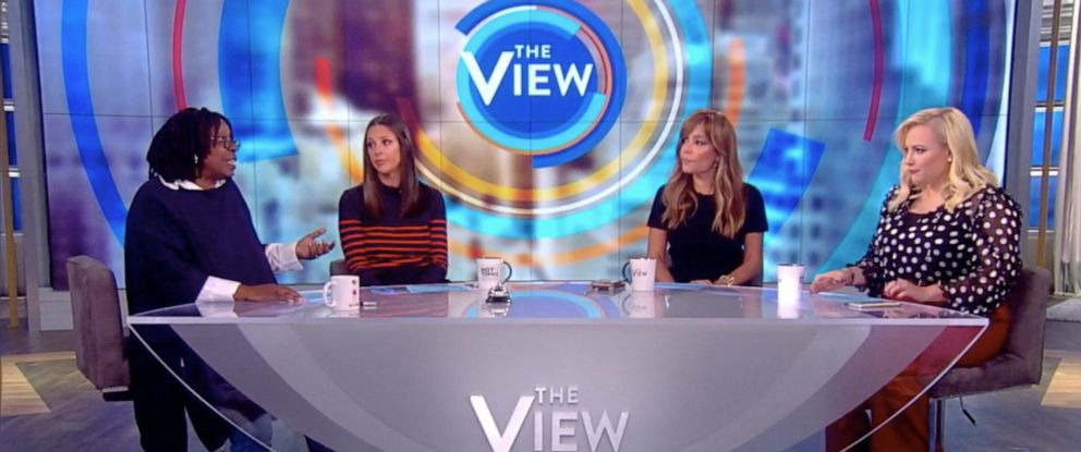 """PHOTO: """"The View"""" co-hosts Whoopi Goldberg, Abby Huntsman, Sunny Hostin, and Meghan McCain discuss fat-shaming, Sept. 16, 2019."""