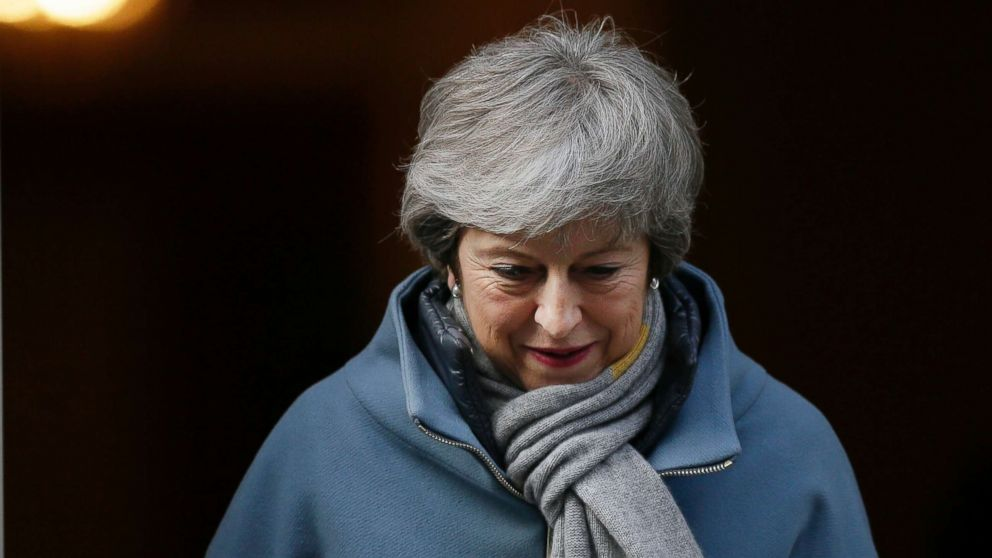 Britain's Prime Minister Theresa May leaves 10 Downing street in London, March 14, 2019.