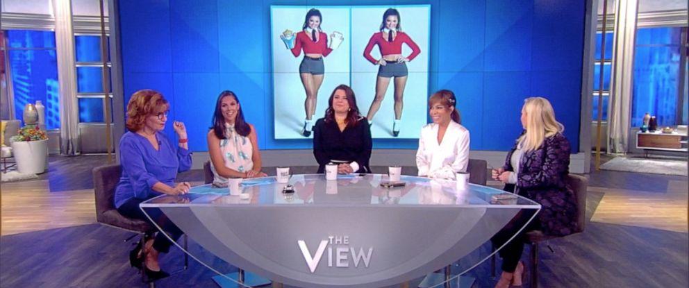 "PHOTO: ""The View"" co-hosts Joy Behar, Abby Huntsman, Ana Navarro, Sunny Hostin, and Meghan McCain discuss 2019 Halloween costumes on Friday, Sept. 20, 2019."