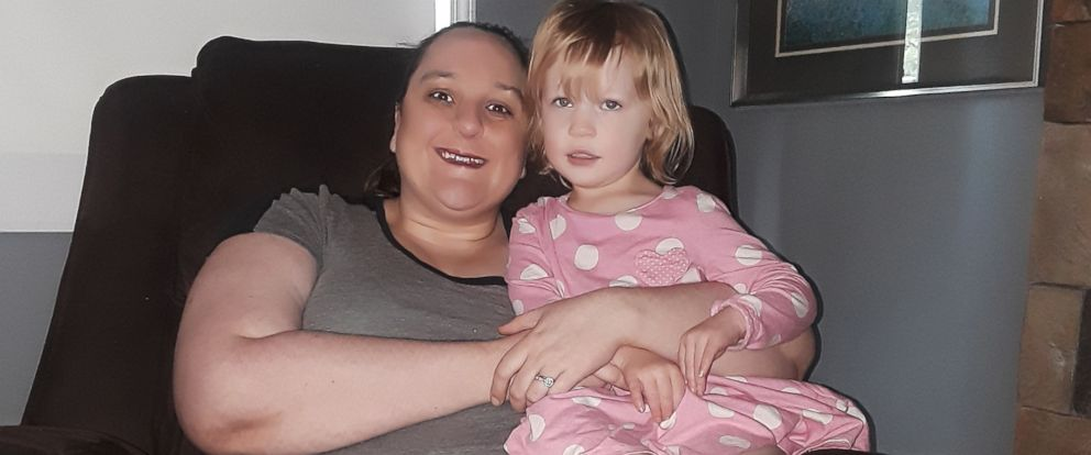 PHOTO: Jessa Lavely of Michigan is pictured with her three-year-old daughter, Savannah, in an undated handout photo.