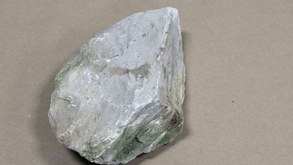 The Boone County Sheriff's Office released images of this rock that authorities say two teenage boys threw at a Kentucky roadway, seriously injuring a driver.