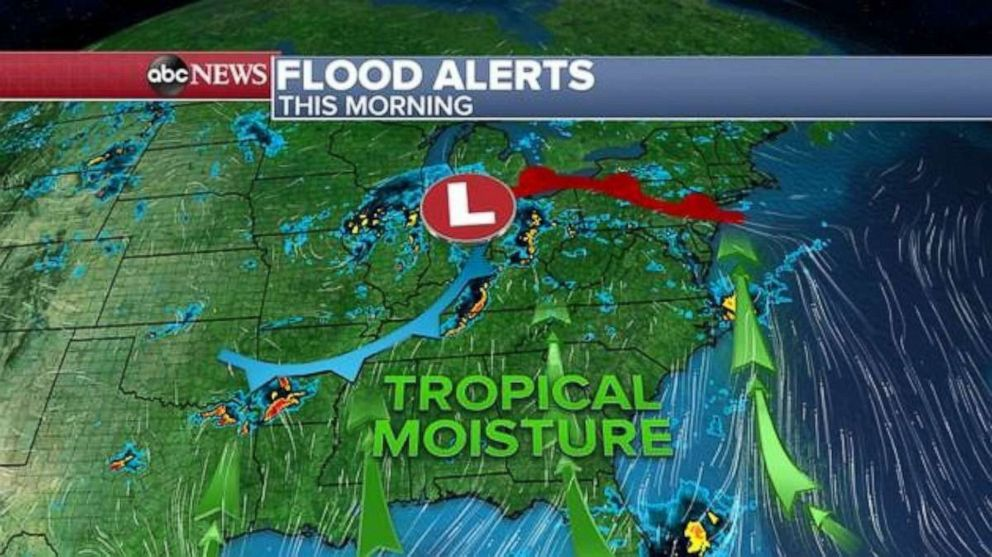 PHOTO: Rain is forecast for much of the East Coast on Thursday.