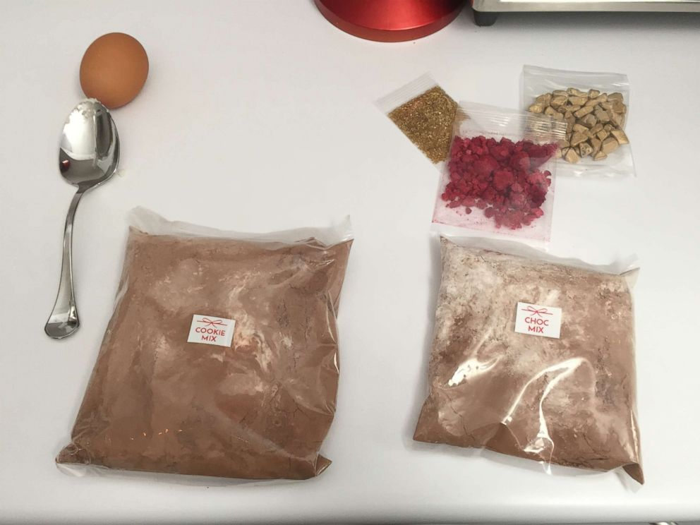 PHOTO:Ingredients for SoBakeables Chocolate thumbprint cookies come individually packaged.
