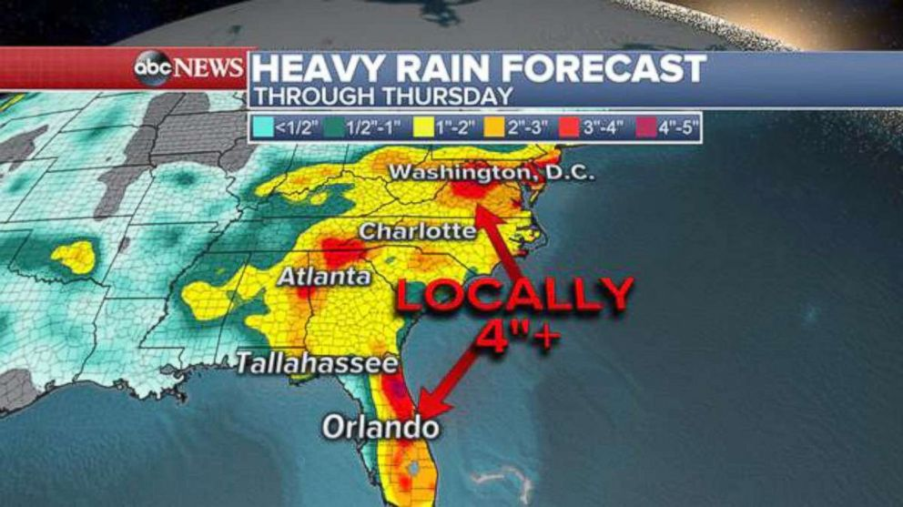 PHOTO: Heavy rain forecast.