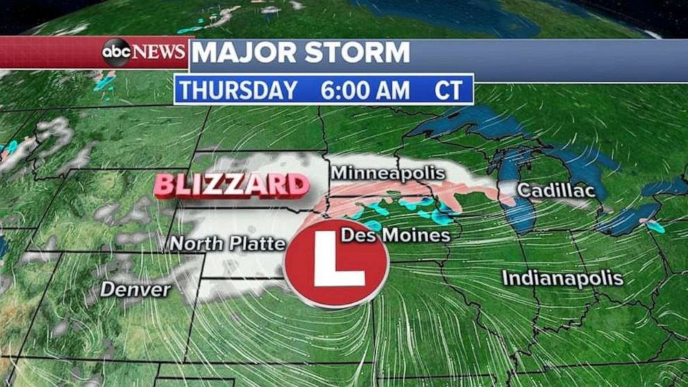 PHOTO: Blizzard conditions are expected in Nebraska and South Dakota on Thursday morning.