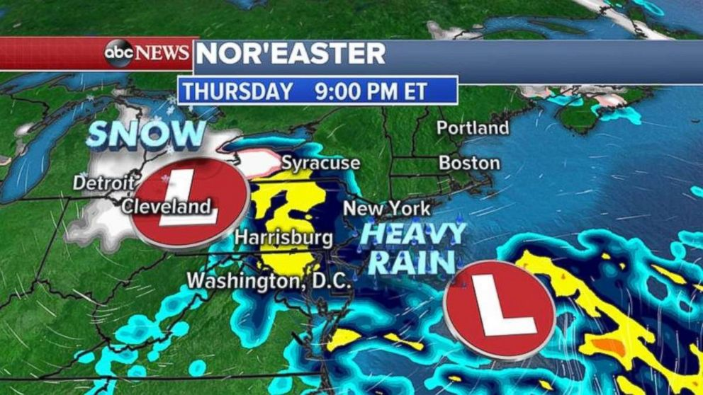 Powerful nor'easter packing rain, snow, high winds