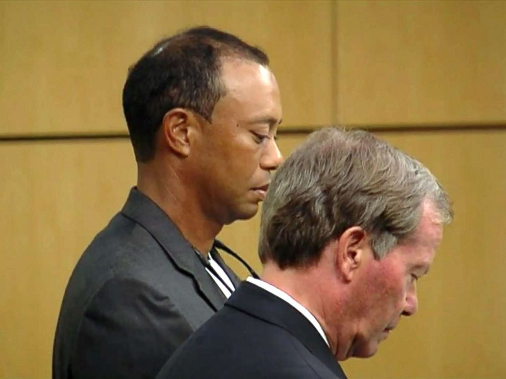 PHOTO: Tiger Woods appears in court, Oct. 27, 2017.
