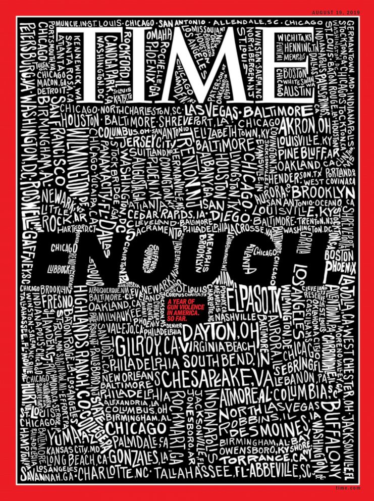 Time magazine cover says 'ENOUGH' in wake of El Paso ...