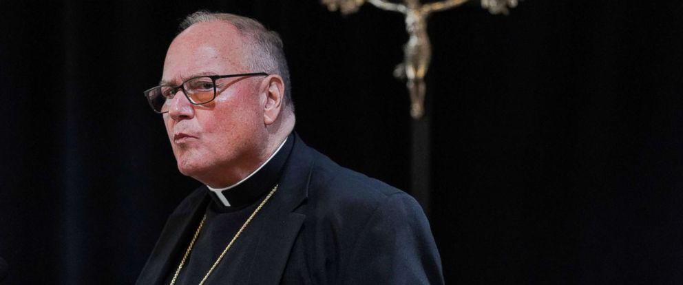 PHOTO: Cardinal Timothy Dolan addresses a news conference at the offices of the New York Archdiocese, in New York, Sept. 20, 2018.