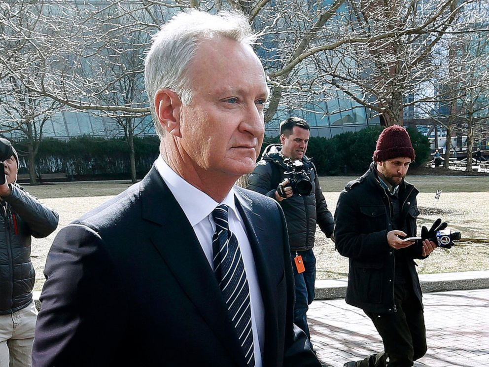 hollywood PHOTO: Toby MacFarlane departs federal court in Boston after facing charges in a nationwide college admissions bribery scandal, April 3, 2019.