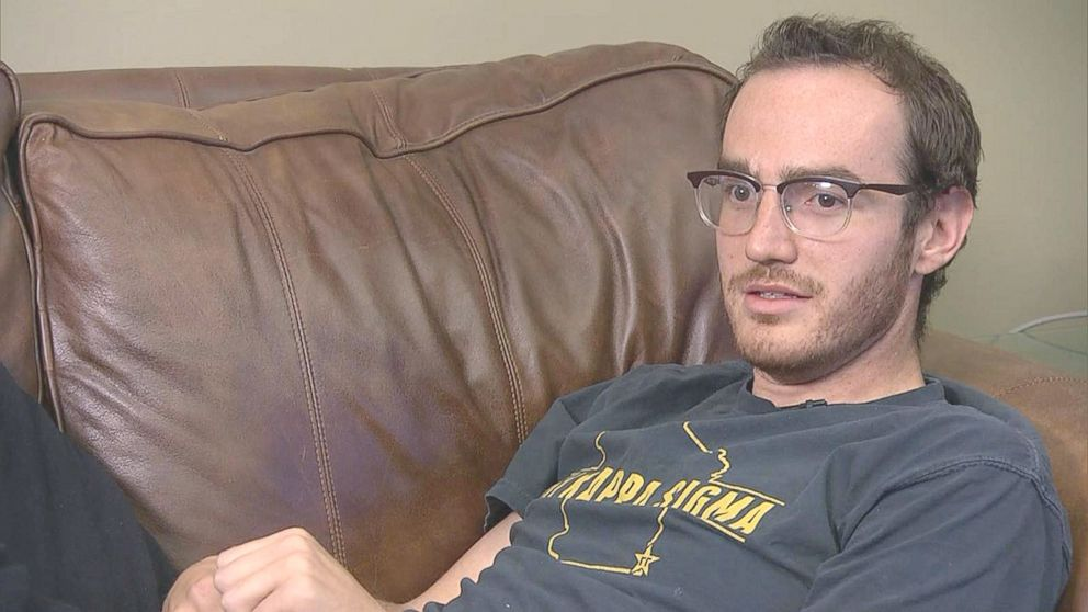 Tom Reddington is interviewed at his home in Denver, June 6, 2018. He was accidentally shot by the back-flipping FBI agent.