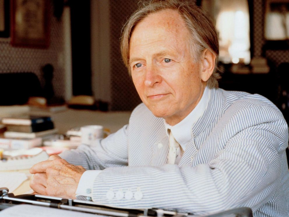 PHOTO: Novelist Tom Wolfe sits at a desk in this undated file photo.