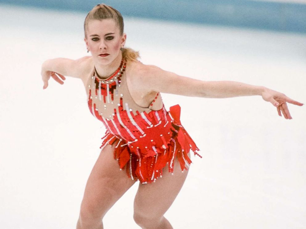 PHOTO: Tonya Harding competes in the Technical Program portion of the Womens Figure Skating competition of the 1994 Winter Olympics on Feb. 23, 1994 at the Hamar Olympic Hall in Lillehammer, Norway.