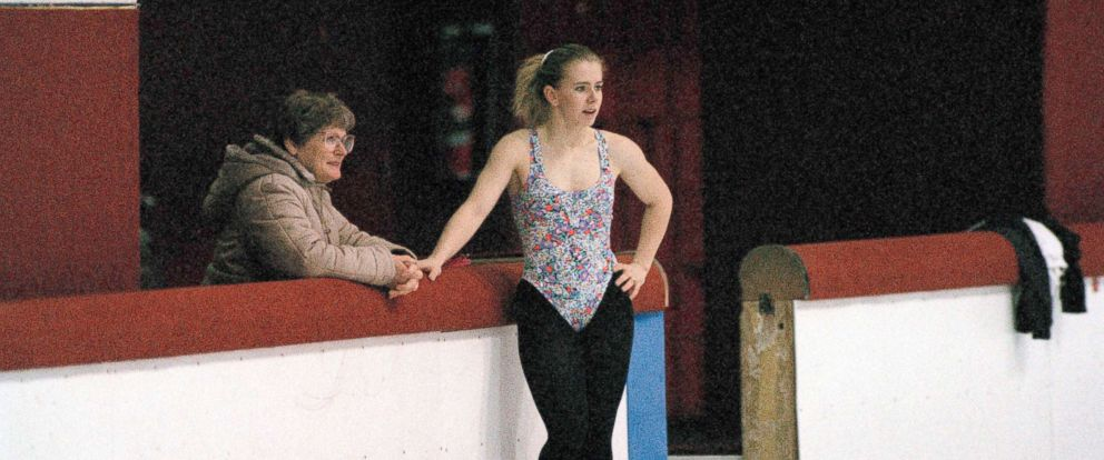 PHOTO: U.S. figure skating champion Tonya Harding chats with her mother, LaVona Golden, during a break in her practice session in Portland, Ore., Jan. 21, 1994.