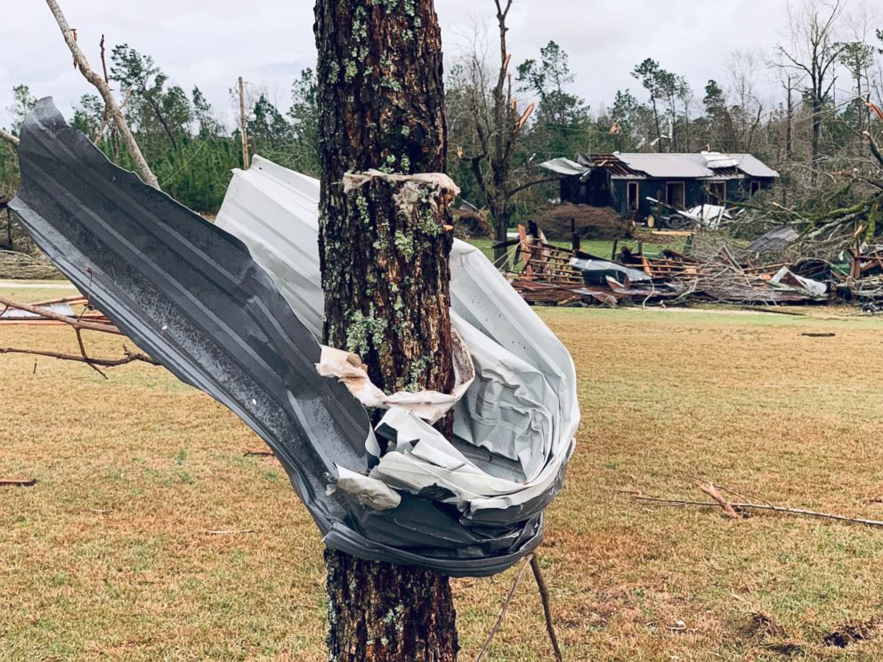 PHOTO: Tornadoes have struck parts of Alabama, near the Georgia state line, to Macon, Georgia, about 100 miles to the east. March 3, 2019.
