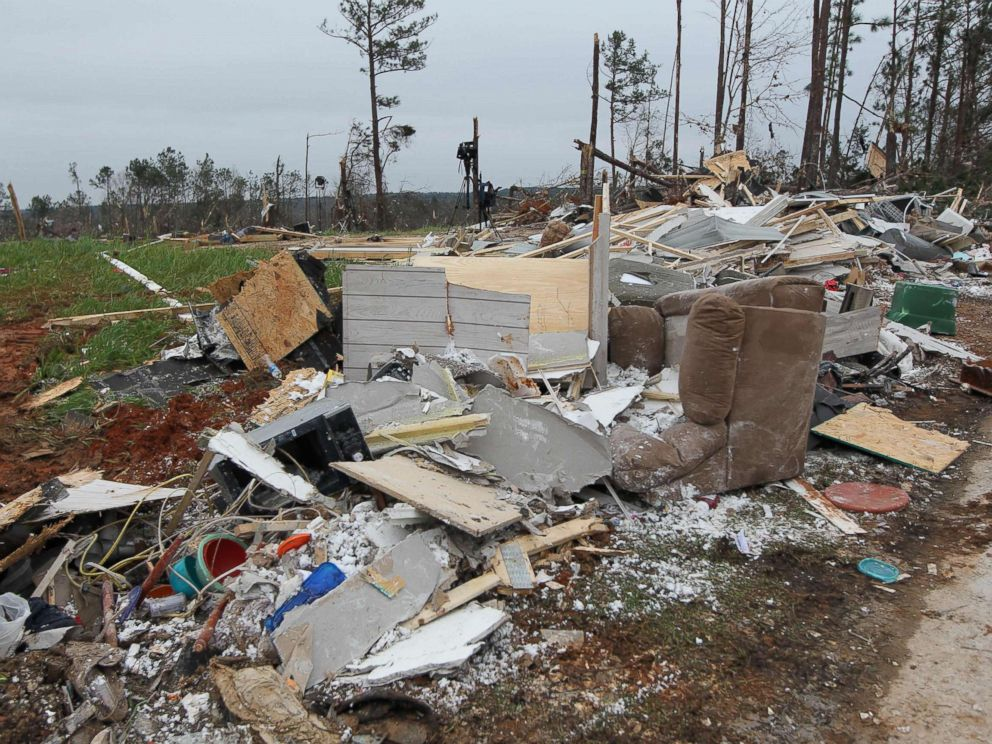 PHOTO: Damage is seen from a tornado in Beauregard, Ala., March 4, 2019.