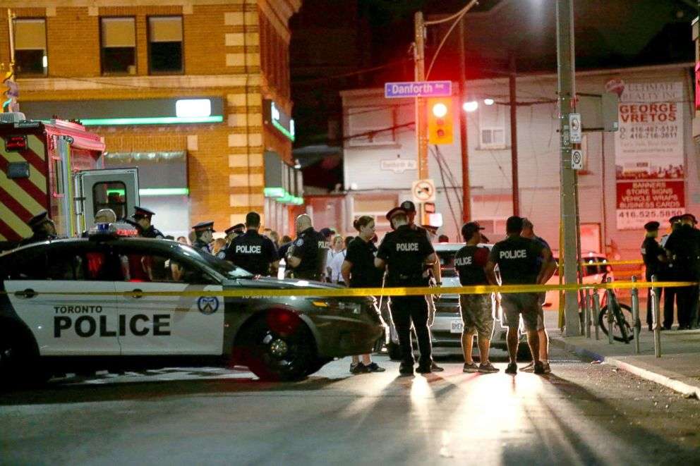 Toronto shooting: 2 victims and gunman dead, 12 wounded