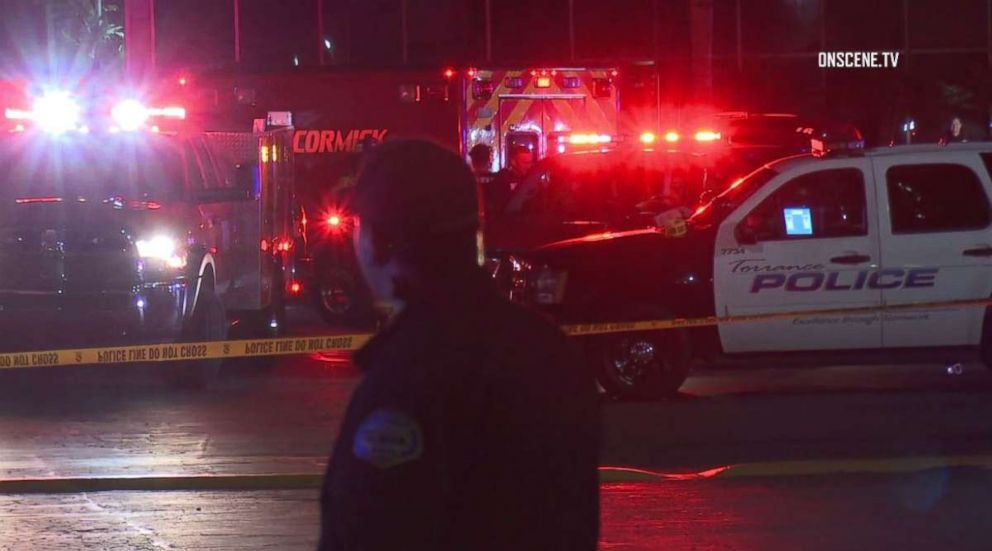 PHOTO: Three people were killed and four injured in a shooting at a bowling alley in Torrance, Calif., on Friday, Jan. 4, 2019.