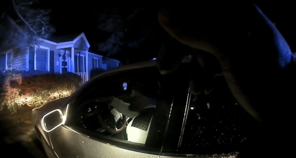 PHOTO: Body cam video shows Brandon Fludd sitting in his vehicle after officers pulled him over.
