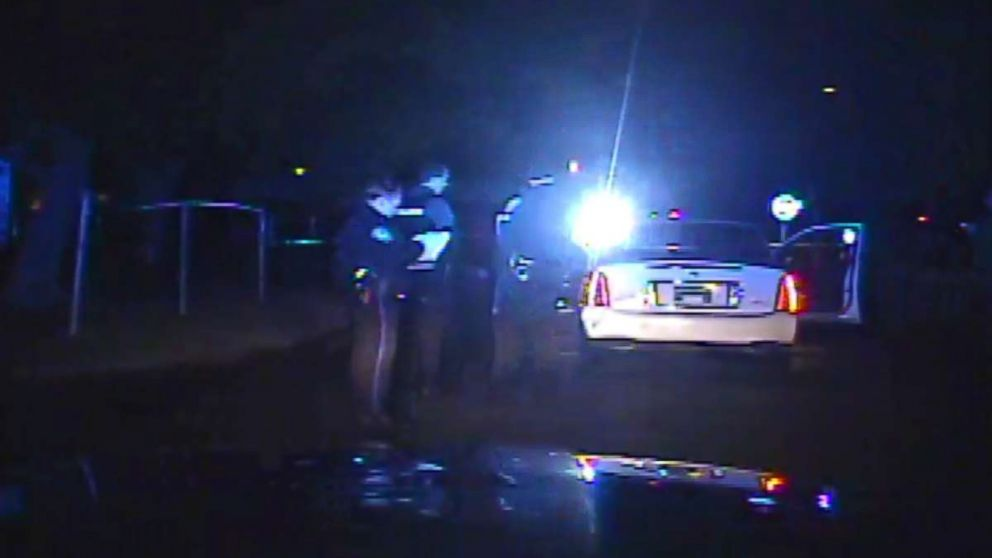 Dash cam video shows officers locate Fludd's car after the chase.