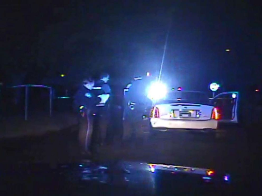 PHOTO: Dash cam video shows officers locate Fludds car after the chase.