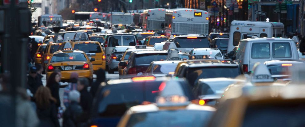 PHOTO: In this stock photo shows New York traffic during rush hour.