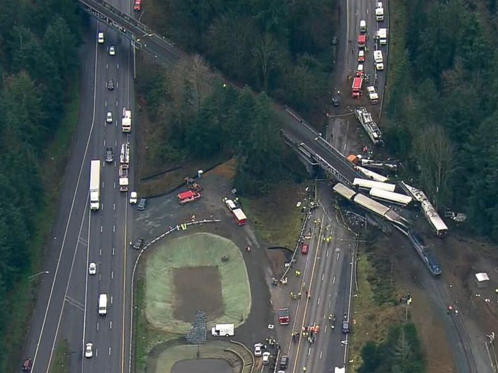 Amtrak Train Derails Onto Highway in Washington State