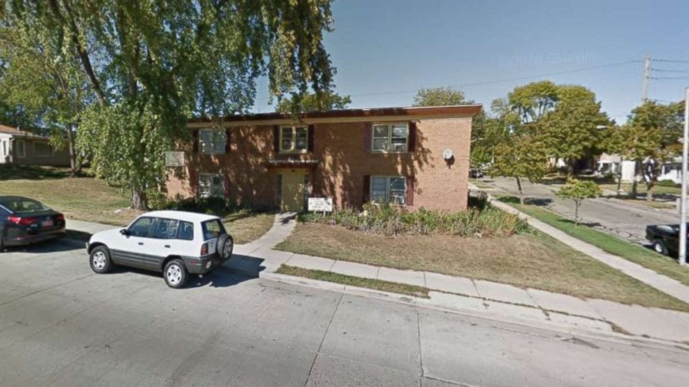 Police were called to this West Milwaukee, Wisconsin, apartment building before Adam Trammell, 22, was killed in a shower.