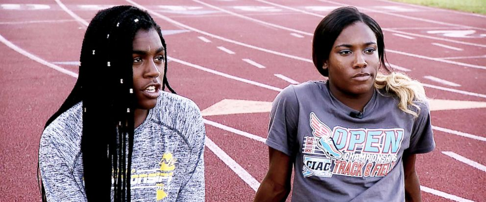 PHOTO: Andraya Yearwood (left) and Terry Miller two transgender track and field student-athletes, open up about their experiences facing backlash in an interview with ABC News Linsey Davis.
