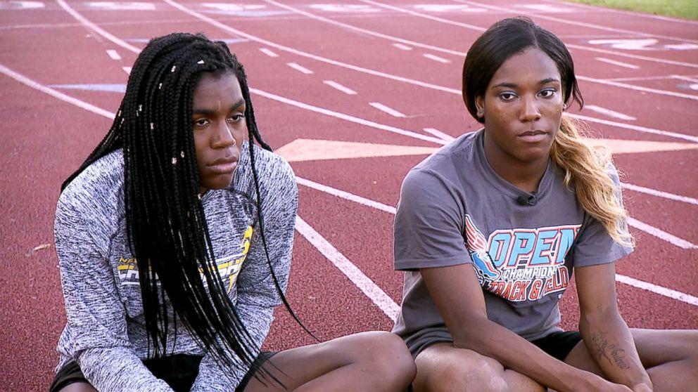 PHOTO: Andraya Yearwood (left) and Terry Miller (right), two transgender track and field student-athletes, open up about their experiences facing backlash in an interview with ABC News Linsey Davis.