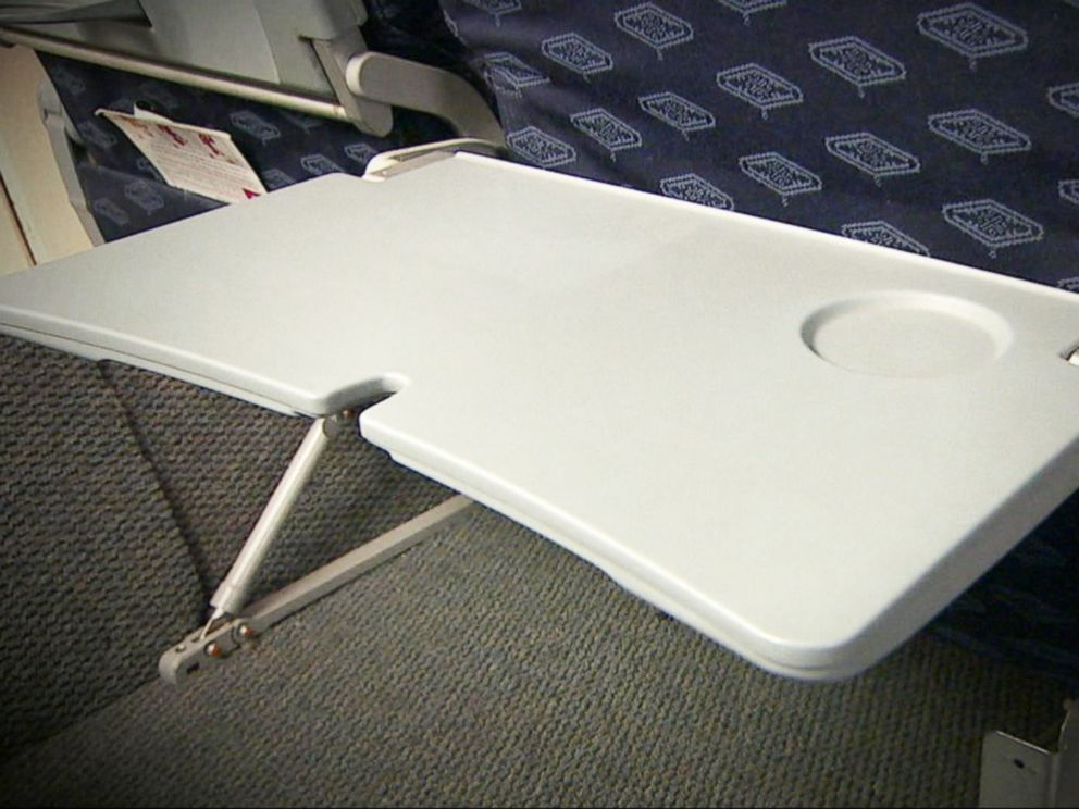 PHOTO: A tray table is seen on an airplane in this undated file photo.