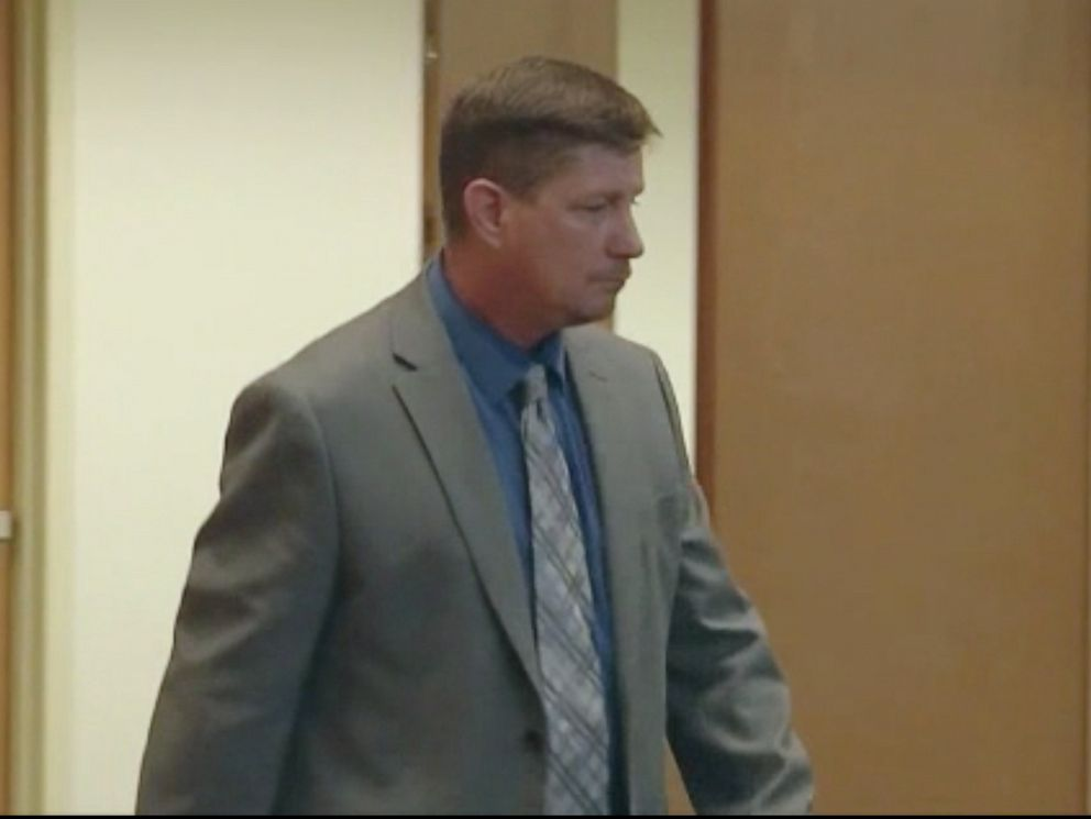 PHOTO: Michael Drejka, who killed Markeis McGlockton outside a Clearwater, Florida store appears in court.