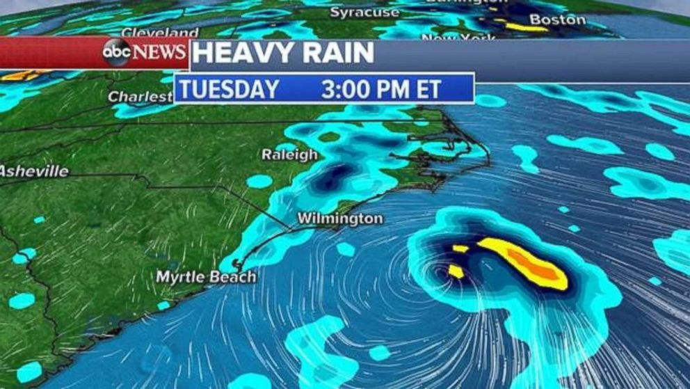 Tropical depression could form off coast of Carolinas, bring more rain