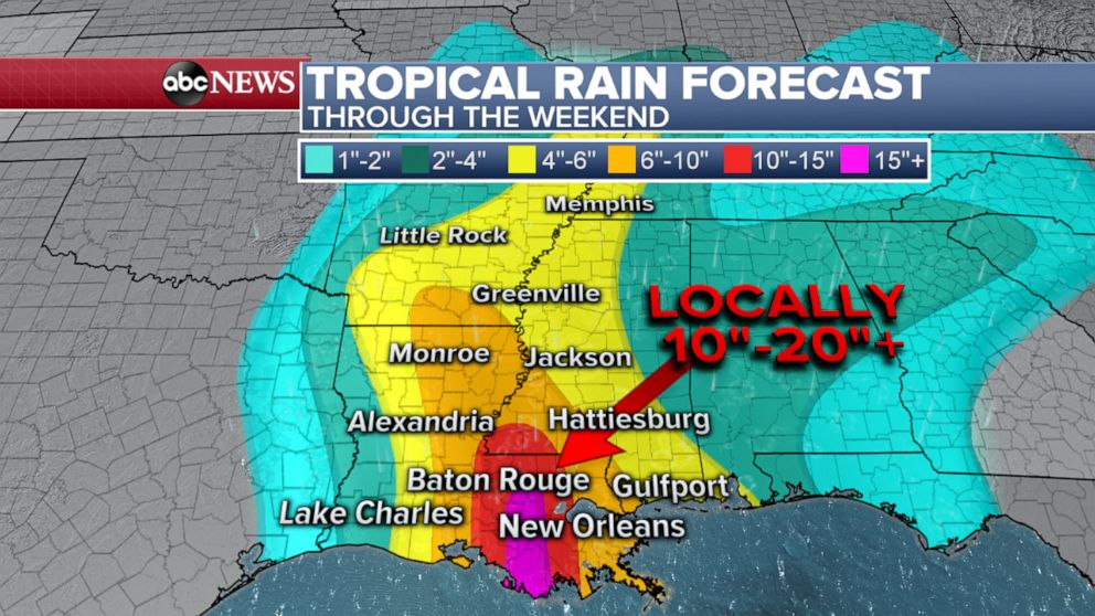 PHOTO: Tropical Rain Forecast: Through the Weekend