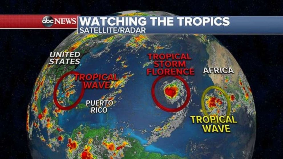There are currently three tropical systems forecasters are watching on Monday morning.