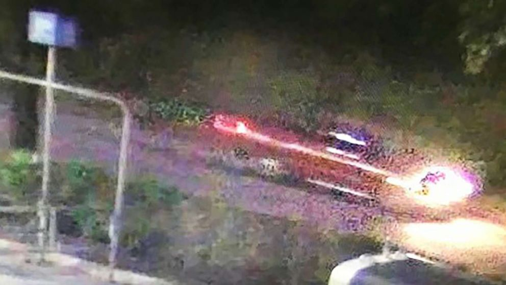 Authorities in Houston are searching for a red pickup truck caught on surveillance.