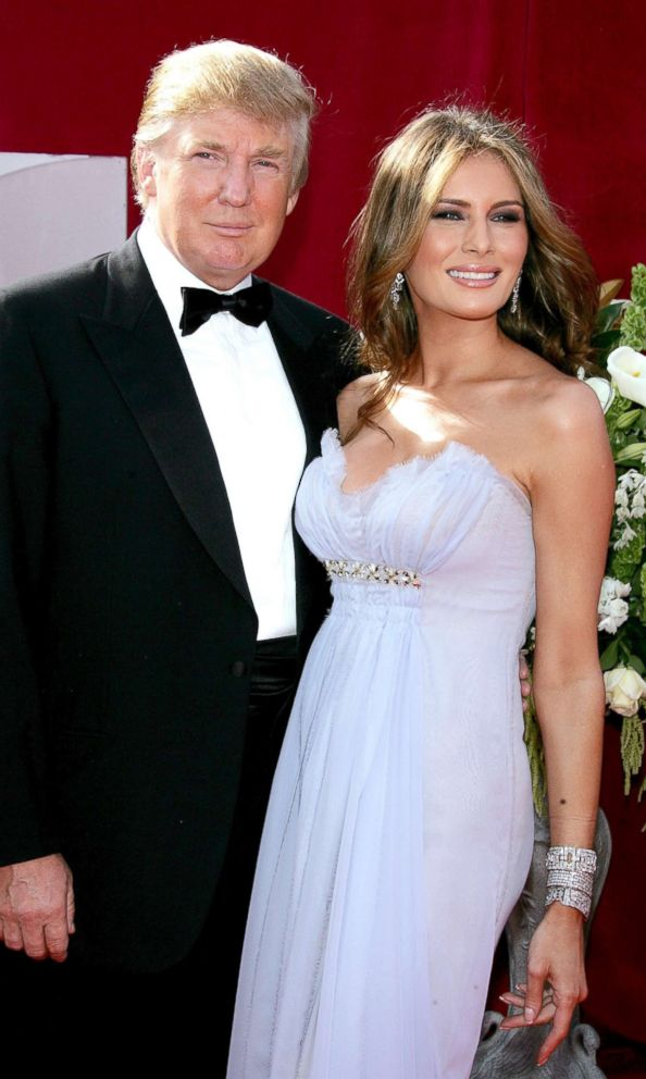 PHOTO: Donald and Melania Trump arrive at the 57th Annual Emmy Awards held at the Shrine Auditorium, Sept. 18, 2005, in Los Angeles.