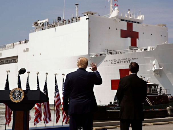 Trump calls USNS Comfort leaving for New York a 'message of hope and solidarity'