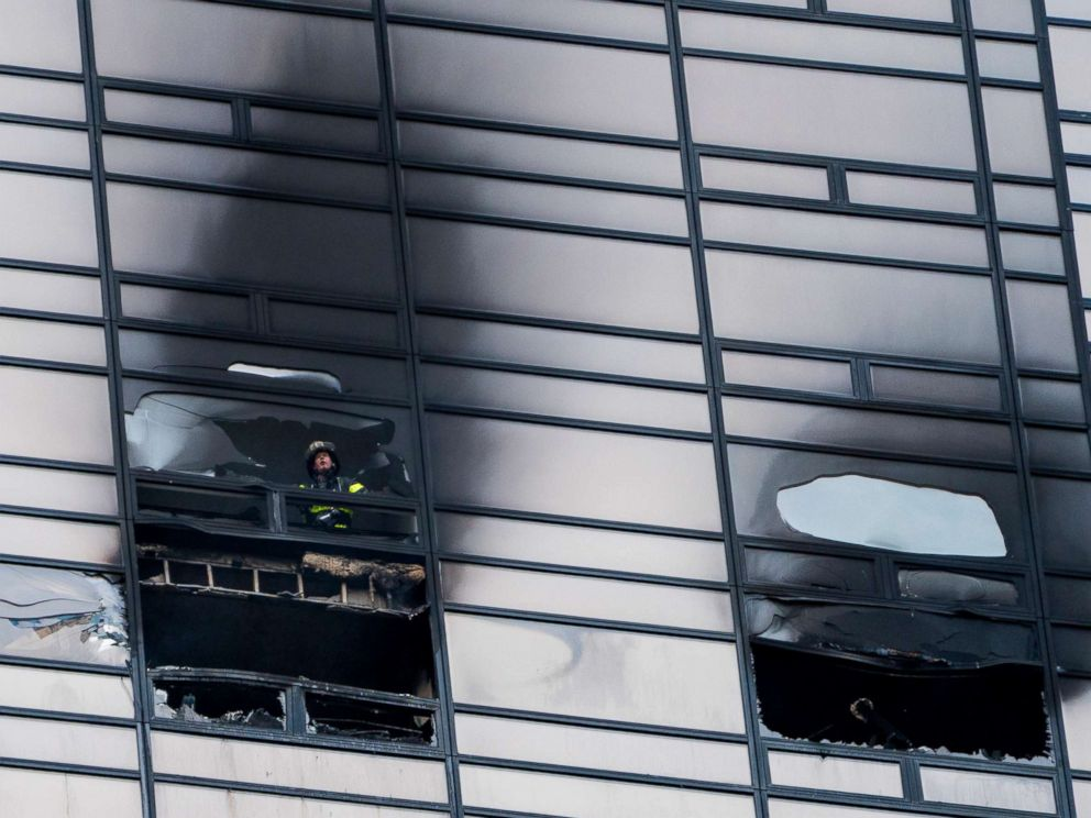 Firefighters: No sprinklers in apartment where fire broke out in Trump Tower