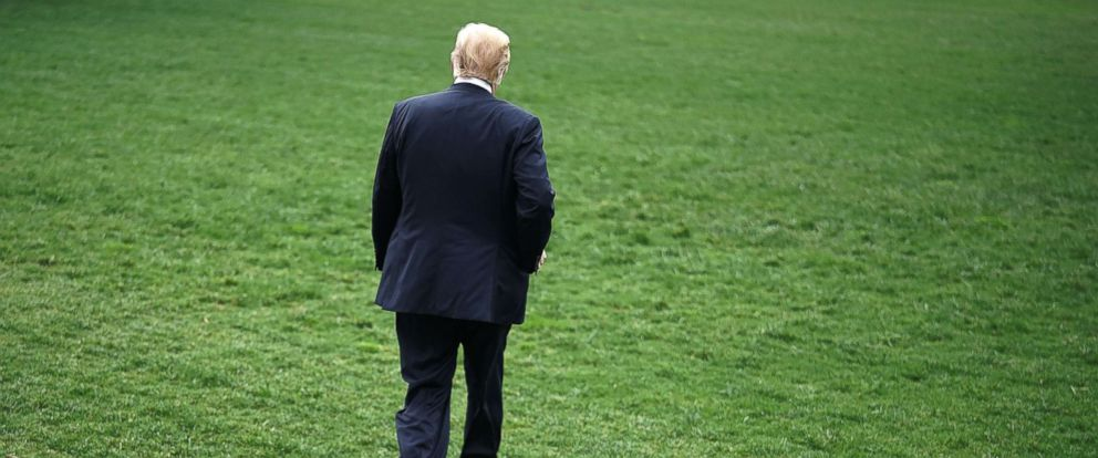 PHOTO: President Donald Trump walks on the South Lawn of the White House, May 4, 2018 in Washington, D.C.