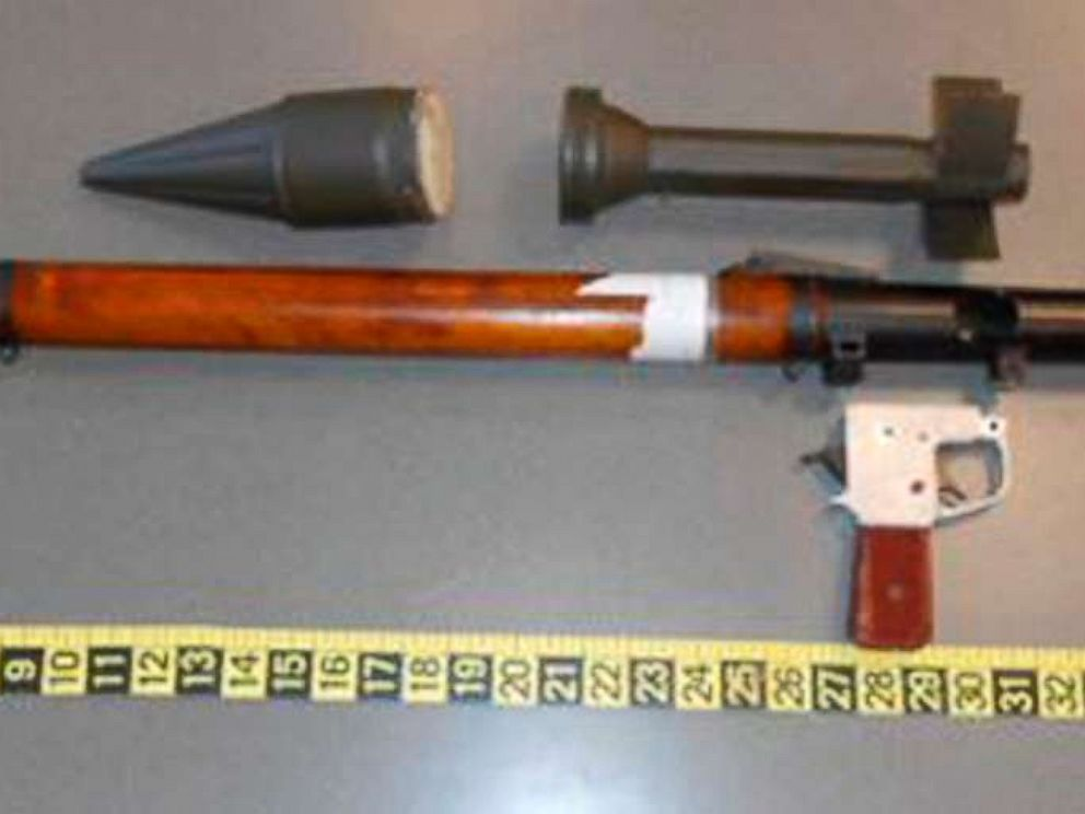 PHOTO: A defunct grenade launcher that TSA agents spotted in a passengers checked bag at Lehigh Valley Airport in Allentown, Pa., March 4, 2019.