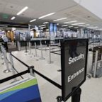 An empty queue at pre-security at the nearly empty San Francisco International Airport, due to the outbreak of coronavirus and COVID-19, in San Francisco, Calif., April 6, 2020. The number of people flying has significantly dropped as airlines are forced to reduced routes and cancel flights due to coronavirus restrictions.